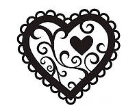 Виниловая наклейка-Сердечко в окантовке