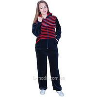 Спортивний костюм жіночий велюровий з подовженою курткою, фото 1