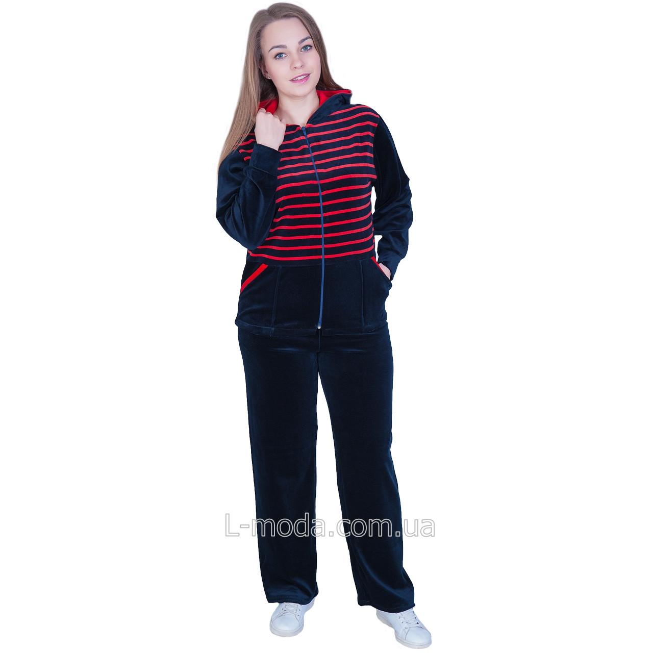 67fce4f5313 Спортивный костюм женский велюровый темно-синий - L MODA магазин женской  одежды