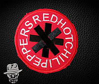 RED HOT CHILI PEPPERS-3 (круг красный) - нашивка с вышивкой