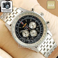 Часы Breitling Navitimer Chronometre silver/black AAA