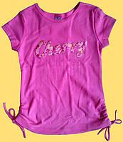 Футболка для девочки, розовая - CHERRY