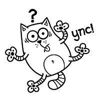 Виниловая наклейка-кот(упс) (от 15х15 см)