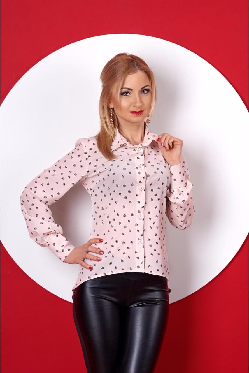 1d27d3e1862 Женская блуза розовая из принтованного софта - Оптово-розничный магазин