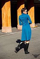 Костюм гольф и юбка с высокой талией черный, изумрудный
