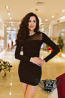 Мини-платье черное
