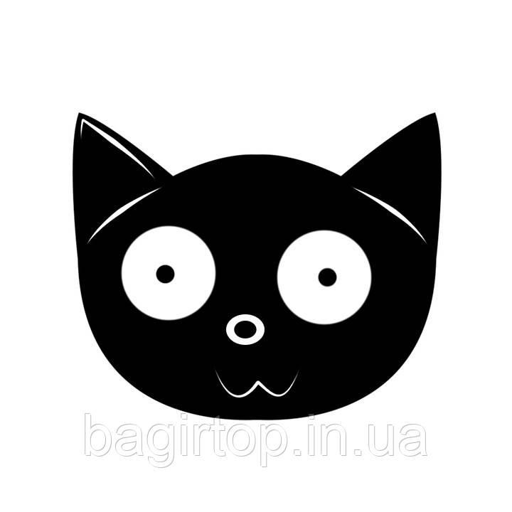 Виниловая наклейка-Кот чудак (от 15х15 см)