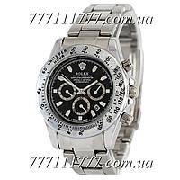 Часы мужские наручные Rolex Cosmograph Daytona Quartz Silver-Black