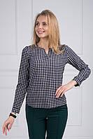 Отличная весенняя блуза с длинным рукавом и геометрическим узором