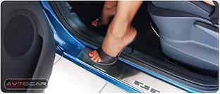 Накладки на пороги VW Golf+ с 2005- / 4шт.