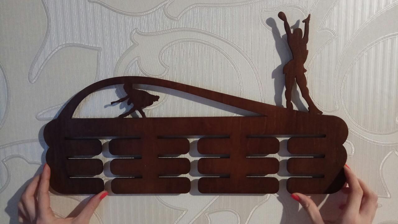 Медальница для фигуристов, дерево (Вешалка для медалей) Фигурное катание Гимнастика