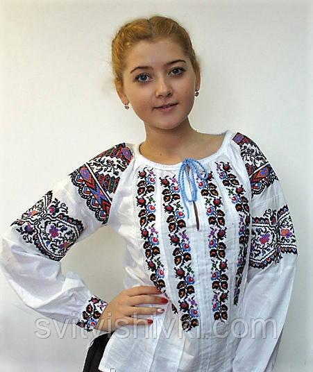 Уникальная вышитая блуза для девочки