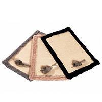 Коврик когтеточка для кошек с игрушкой и кошачьей мятой, сизаль/плюш, 48х31 см