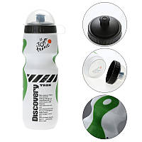 Фляга Discovery для велосипеда 650ml велосипедная бутылка white+green