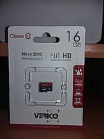 Карта памяти Verico microSDHC 16GB Class 10 оригинал