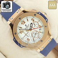 Часы Hublot Big Bang blue/gold/white AAA
