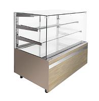 Кондитерская холодильная витрина GASTROLINE CUBE 610 3 полки (куб стекло)