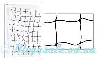Сетка для волейбола PW 06 с металлическим тросом: 9,5x1м, ячейка 10x10см