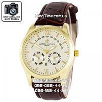 Часы Vacheron Constantin quartz brown/gold/white