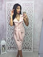 Костюм женский в цветах  розовый