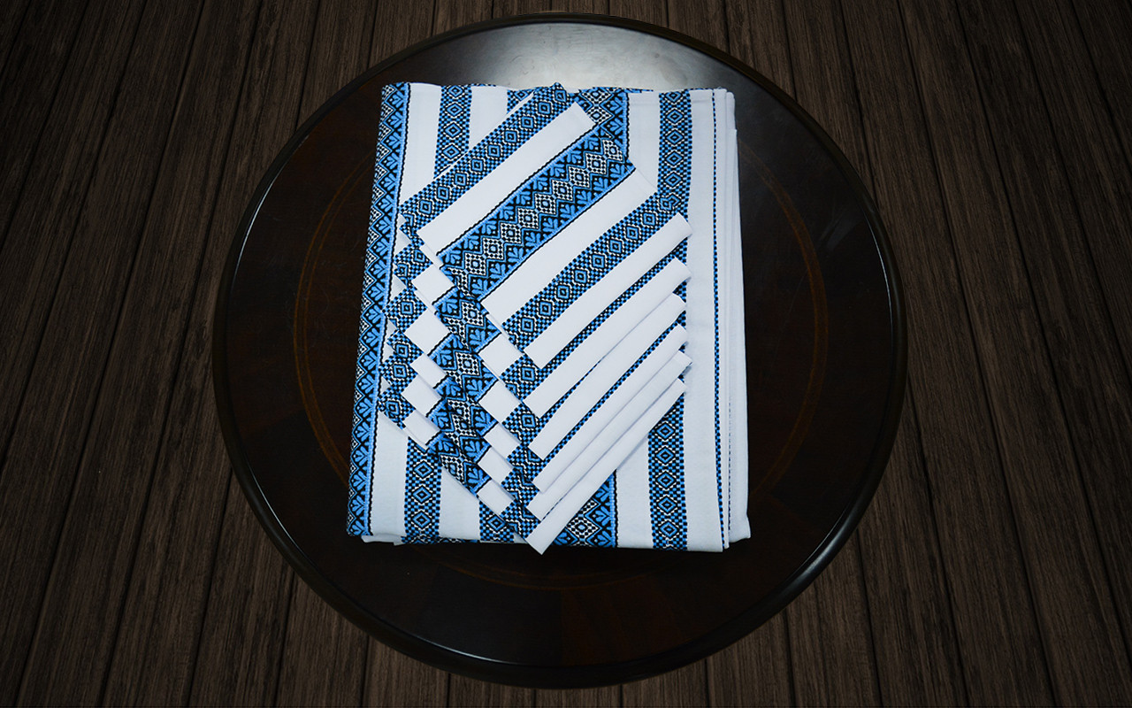 Комплект столовый синий (190*140)
