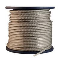Канат стальной ПВХ 2/3 мм (трос оцинкованный в оплётке)