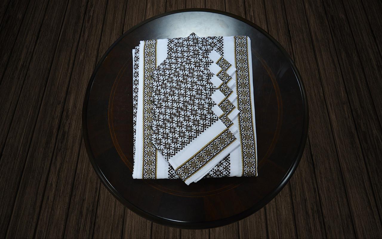 Комплект столовый коричневый (230*140)