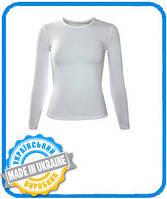 Женская двухслойная футболка с длинным рукавом размер М