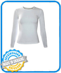 Женская двухслойная футболка с длинным рукавом (лонгслив) размер М