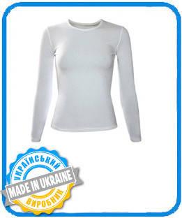 Жіноча двошарова футболка з довгим рукавом (лонгслив) розмір М