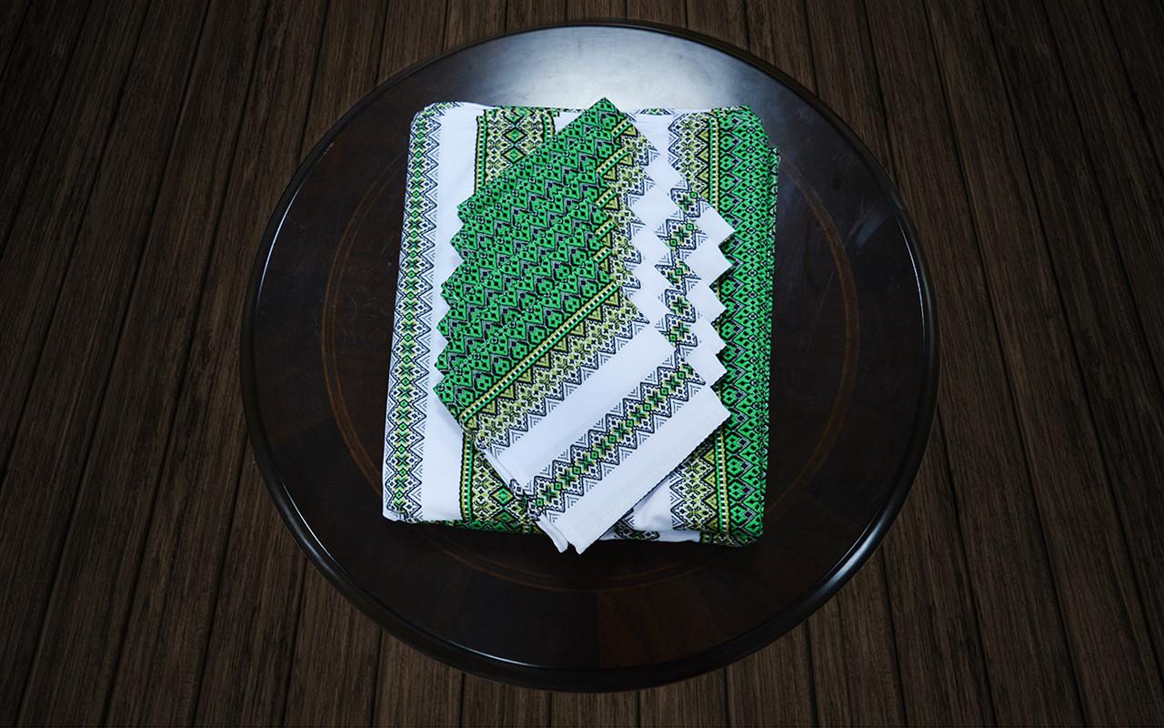 Комплект столовый зеленый (230*140)