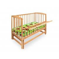 Кровать детская на шарнирах с откидной боковиной (бук)