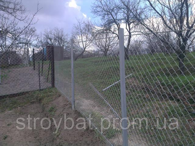 забор из сетки рабицы в Харькове