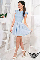 Короткое джинсовое платье голубое