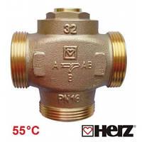 Трехходовой термосмесительный клапан HERZ-TEPLOMIX  DN-32/55°C  Австрия.
