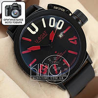 Часы U-boat Italo Fontana Classico black/black/red
