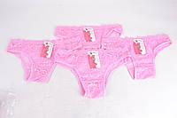 Трусики женские кружевные Розовый (SL9109/4) | 12 шт.