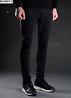 Мужские черные джинсы Staff skinny stretch Black BLK0001-1