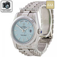 Часы Rolex Oyster Perpetual Day Date silver/blue AAA