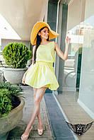 Летнее шифоновое платье  желтое