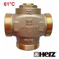 Трехходовой термосмесительный клапан HERZ-TEPLOMIX  DN-32/61°C  Австрия.