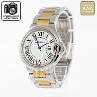 Часы Cartier Quarts silver/gold/silver/white AAA