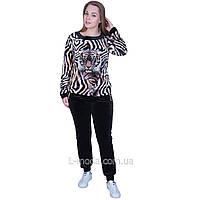 Спортивный костюм женский велюровый с тигром, фото 1