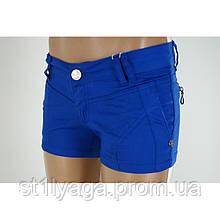 Бавовняні короткі шорти в синьому кольорі шорти ЛІТО