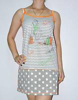 Ночнушка Ночная рубашка Женская 42-48 р Хлопок 100 %
