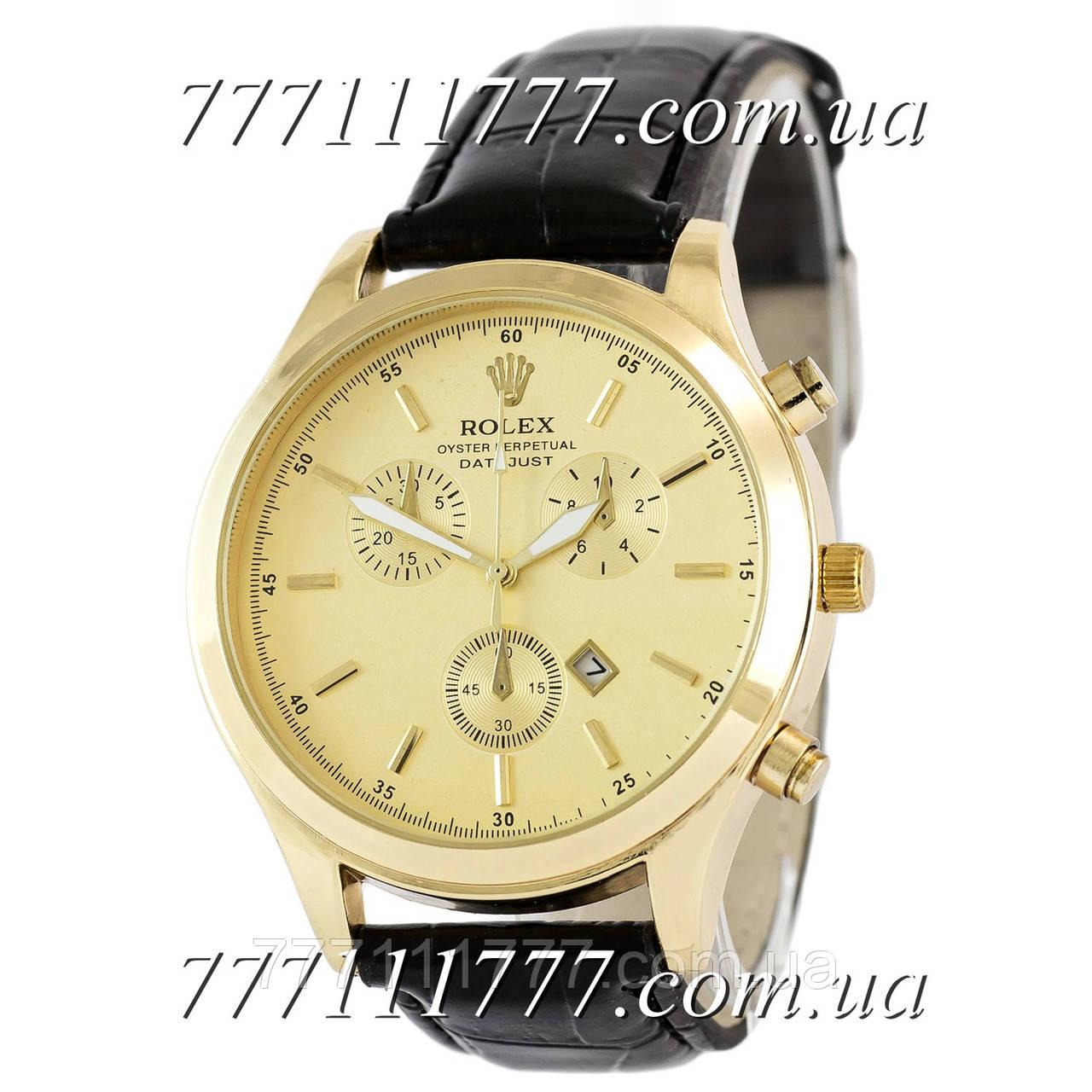 efe39f9acdc0 Часы мужские наручные Rolex 6730 Quartz Black-Gold  продажа, цена в ...