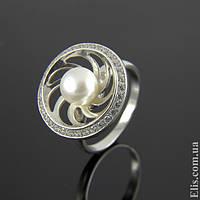 Женское серебряное Кольцо Калейдоскоп