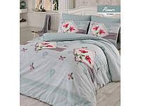 Комплект постельного белья ранфорс  Arya полуторный размер Flower