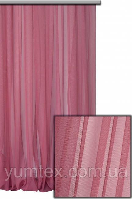 Тюль сетка грек фатин гипюр французский цвет 7003 темно-розовый