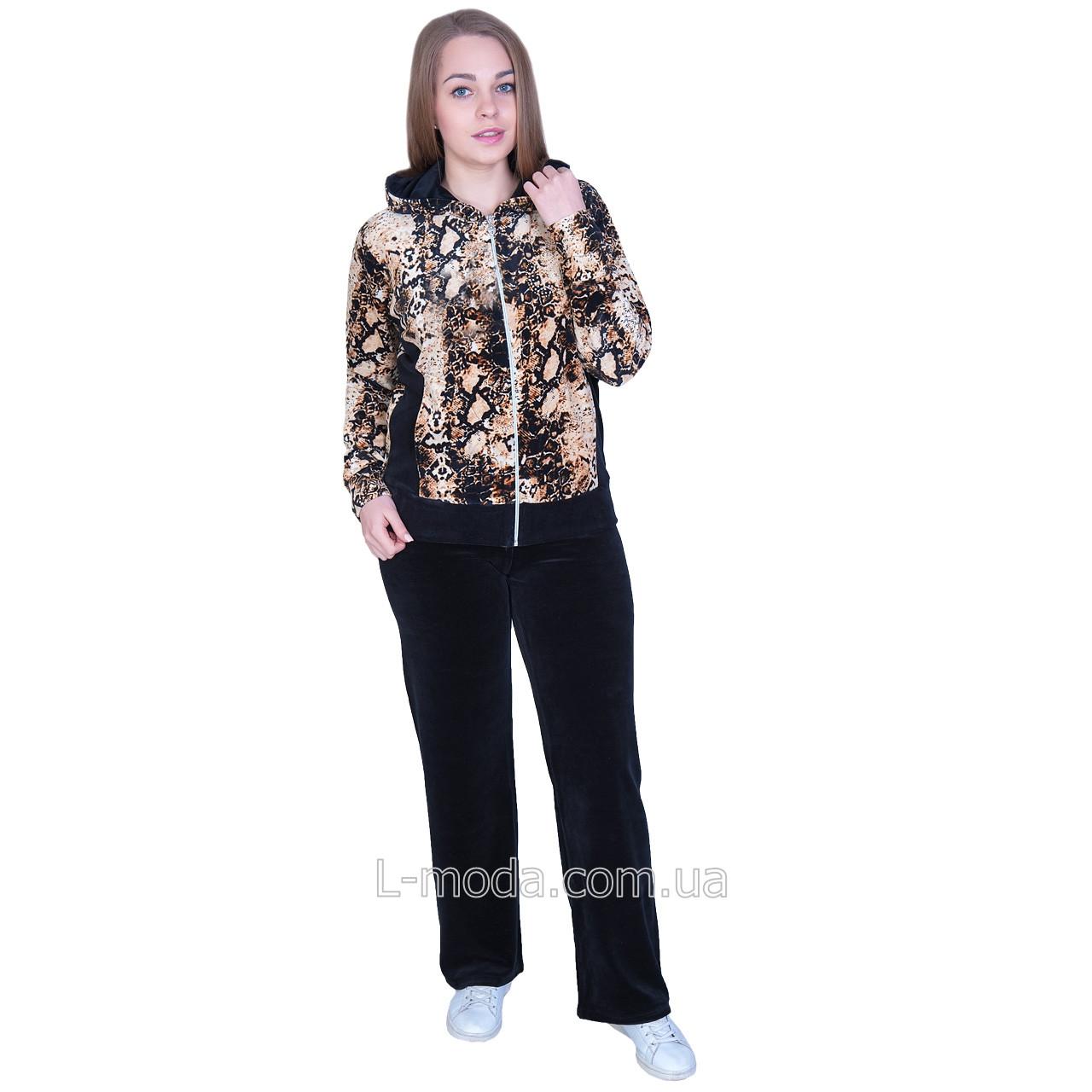 Спортивный костюм женский велюровый с принтом